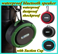 Wholesale Usb Voice Sound - c6 IPX7 wireless Bluetooth Speaker waterproof Suction Cup speakers Handsfree MIC Voice Box portable bluetooth 3.0 for iphone samsung