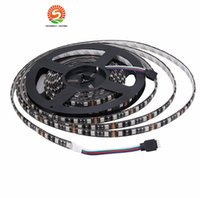 Pcb Led Azul Baratos-100M LED Strip 5050 Negro PCB IP65 Waterproof IP20 DC12V Flexible LED Light 60 LED / M RGB 5050 LED Strip Azul Verde Rojo