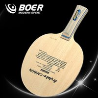 Wholesale Carbon Fiber Wood - Wholesale- BOER VIS 5 layers wood and 2 layers carbon fiber table tennis blade table tennis racket for Table Tennis Amateurs Playing