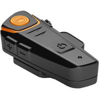 Wholesale Wired Motorcycle Helmets - BT-S2 1000 meters Motorcycle Helmet Bluetooth Headset Intercom Wired and Wireless Waterproof FM Music Headphones GPS