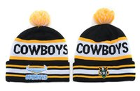 Wholesale Plain Football Tops - free shipping top quality ALL Football Beanies knitted knit Pom Beanies New Football Hats