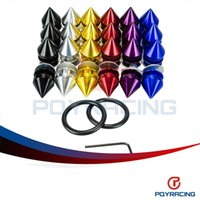 Wholesale Car Engines - PQY STORE-New Design Anodize Aluminum Quick Release Fasteners For Car Bumpers Trunk Fender Hatch Lids Kit PQY-QRF92