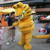 Wholesale Cat Mascot Costume Fancy Dress - Garfield Cat Mascot Costume Cartoon Halloween Costumes Christmas Festival Party Adult Cartoon Outfits Fancy Dress Free Shipping