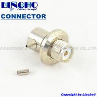 Wholesale pc coaxial connectors resale online - 10 RF right angle uhf female so239 car radio antenna coaxial connector rg316 rg174 cable