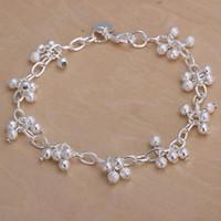 Wholesale Yarn Bracelets - Free shipping, 2016 new fashion grape bead bracelet sterling silver yarn