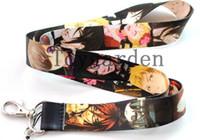 Wholesale Black Butler Kuroshitsuji - Free Shipping 10pcs Kids Black Butler Key Lanyard Kuroshitsuji mobile neck strap