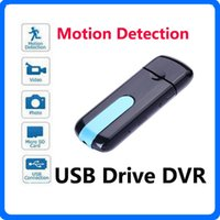 Wholesale Hidden Flash Drive - Mini DV Camera HD U8 USB Flash Drive Camera DVR 3 in 1 Camera SPY Hidden USB Disk Camcorder With Motion Detection