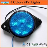 5colors 2pcs / lot DC24V ha condotto Liquidazione / indicatore laterale / Turn / Freno / Stop / segnale d'inversione Light Car Truck rotonde impermeabili LED STOP si accende