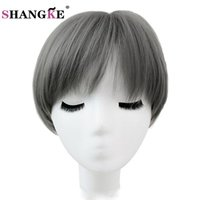 Wholesale Medium Length Blonde Wigs - wigs for blacks SHANGKE Hair Short Blonde Wig High Temperature Fiber Synthetic Wigs For Black White Women Short Natural Wig Women