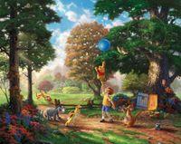 Wholesale Pooh Figures - Free shipping,Thomas Kinkade,Winnie-The-Pooh,Alan Alexander Milne,Decor Prints Realistic Oil Painting Printed On Canvas -1253
