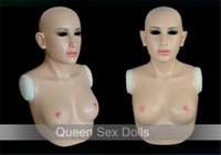 Wholesale Silicone Breast Top - Wholesale-SF-A2 Top quality realistic silicone masks crossdresser silicone breasts forms party masks free shipping