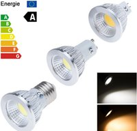 Wholesale Mr16 Warm White 6w - High quality Cree COB 6W 9W 12W GU10 E27 E26 MR16 GU5.3 Dimmable Led bulb Spotlights Lamp 120 Angle Led Bulb Warm Cool White AC 110-240V 12V