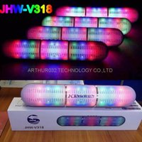 Flash Usb Coloré Pas Cher-Colorful JHW-V318 Pulse Pills Led éclairage Flash sans fil Bluetooth Portable Speaker Bulit-in Mic mains libres Haut-parleurs Soutenez FM USB DHL gratuit