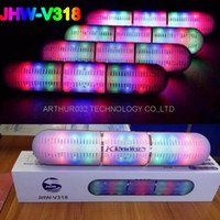 Wholesale Metal Outdoor Lights - Colorful JHW-V318 Pulse Pills Led Flash Lighting Portable Wireless Bluetooth Speaker Bulit-in Mic Handsfree Speakers Support FM USB Free DHL