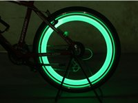 Wholesale Wheel Free Lamps - Hot Bike Bicycle LED Lights Motorcycle Electric car Wheels Spokes Lamp Silicone 4 colors flash alarm light cycle accessories Free Shipping