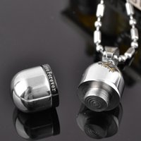 Wholesale Love Pills Capsule - high qualty openable Stainless Steel love forever Memorial Cremation Ashes Urn Pill Pendant capsule Necklace Keepsake Men Women Jewelry urn