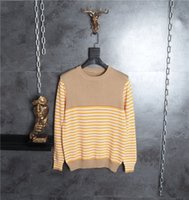 Wholesale Mens Wool Sweater Xxl - NEW 2017 Winter Mens Fashion Sweaters Contrast color stripe Pullovers Men Brand Sweater Male Outerwear Knitted Round collar Sweaters M-XXL