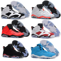 Wholesale Online Media - Free Shipping 2016 air retro 6 cheap basketball shoes Olympic red black Infrared Carmine Sneaker Sport Shoe For Online Sale size 8 - 13