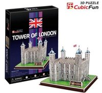 Wholesale Tower London 3d Puzzle - Wholesale-Paper model,Children's DIY toy,Paper craft,Birthday gift,3D educational Puzzle Model,Card model,Tower of London