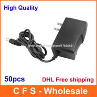 Wholesale 5v 3v - 50pcs AC 100-240V to DC 5V 4.5V 3V 1A Power adapter Supply 1000mA Adaptor US Plug 5.5mm x 2.1mm DHL Free shipping