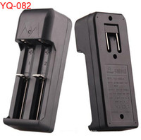 Wholesale Charger Dhl Free - DHL free,18650 18350 Charger Dual Slots Universal Charger for Rechargeable Li-ion 18650 18350 18500 16340 Batteries(yiquan)