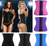 Wholesale Wholesale Latex Shapers - Plus size XS 6XL Sexy Women Latex royal court Shapers Rubber Waist Training Cincher Underbust Corset BodyShaper Shapewear women underwear