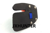 Wholesale archery guard - 1 piece New Archery shooting Finger Protector Tab Guard Glove Leather Hunting for right hand Shooting