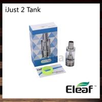 eleaf sub ohm tank al por mayor-Ismoka Eleaf iJust2 Atomizer 5.5ml ijust 2 Sub ohm Control del flujo de aire del tanque Sub ohm del tanque con cabeza EC 100% original