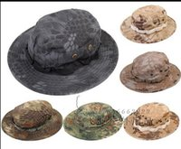 Wholesale Fitted Tactical Hats - Tactical Mandrake Boonie Hat Kryptek Pattern US Rip-stop Cap Hat for Camping Hiking Hunting Rattlesnake Combat Airsoft