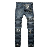 Jeans Jeans a tinta unita stile jeans Jeans stretch jeans aderenti per uomo