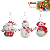 Wholesale Snowman Ornaments Sale - Christmas Sales red and white colors create up to Christmas snowman Christmas tree ornaments hanging pieces Christmas decorations