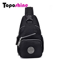 Wholesale Purple Outdoor Pillows - New Arrival Street Fashion Nylon Women Chest Bag Outdoor Solid Crossbody Shoulder Bag Diagonal Package Casual Rucksacks 15-201