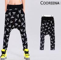 Wholesale Hip Hop Dancing Pants Women - [Magic] Boy eagle printing harem pants women Hip hop street dance pants summer trousers CO9820 free shipping