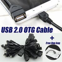 Wholesale Usb Host Cable Android - 15cm standard Host female USB to male Micro USB 2.0 OTG Cable Cord adapter for Samsung Xiaomi Android Phone for For flashdrive
