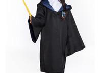 kostenlose filmkinder großhandel-Theme / Movie Costuem Harry Potter Costume Ravenclaw Cloak Black Color für Erwachsene und Kinder Kostenloser Versand