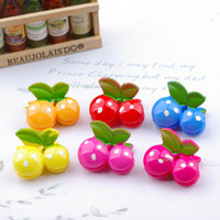 Wholesale Hair Claws Gripper Clips - Child hair accessories baby small gripper claw Children's hairpin hair clips cherry clipside-knotted clip 20pcs lot