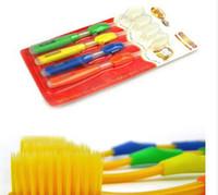nano pflege zahnbürste großhandel-4 teile / satz Zahnbürste der Zahnpflege für weiche Bürste Bambuskohle Zahnbürste Doppel Ultra Soft Nano Pinsel Mundpflege C027