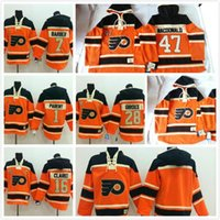 Wholesale Old Macdonald - 2016, #1 Ryan Parent Sweatshirts Old Time Hockey Hoodies Jersey Philadelphia Flyers 47# Andrew MacDonald Sweatshirts Jersey 215