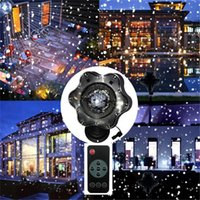All'ingrosso- Trecaan Christmas Snow Proiettore Lampade Snowflake Snowfall Garden LED Stage Light Per Capodanno Disco DJ Party Light