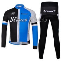 Wholesale Giant Blanco Jersey - New Arrival Blanco Team Cycling Jersey Set Long Sleeve Red Shirt and Pants High Quality Giant Cycling Clothing