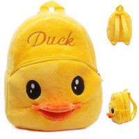 Wholesale Shoulder Bag Duck - baby Girls Boys loved mini soft plush yellow duck Backpacks for 1-2T bag 2015 cute put the cady doll backpack fashion birthday gift