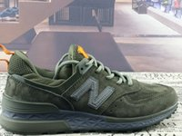 Wholesale Nb Shipping - 2017 Free shipping Classic NB 574 V2 series W990GL3 made in USA Presidential running shoes top running shoes size:eur 36-45