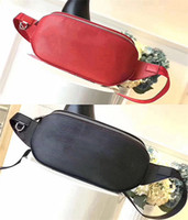 Wholesale Fashion Waist Packs - Box Logo Luxury Red Autn Material Waist Bags Bumbag Shoulder Cross Body Fanny Pack Bum Waist Bag M53418 Come With Receipt