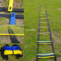 Wholesale Quick Rings - MESSON 22.5 FOOT Quick Flat Rung Agility Ladder Soccer Speed Training ladder