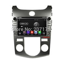 Wholesale Dvd Gps For Kia Forte - Android 4.4.4 Car DVD GPS for Kia Cerato Forte Koup Shuma Manual with Capacitive Screen,Raido,Optional(1024*600,3G,OBD,DVR)
