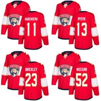 Wholesale Brown Panther - Customized Mens 2017-2018 Florida Panthers 11 Jonathan Huberdeau 13 Mark Pysyk 16 Aleksander Barkov 23 Connor Brickley Hockey Jerseys