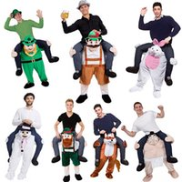 Wholesale Mascot Funny - Interesting Ride on Me Mascot Costumes Carry Back Funny Animal Pants Fancy Dress Up Oktoberfest Halloween Party Cosplay Costumes