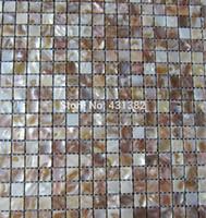 cuisine de dosseret de mère perle achat en gros de-Carreaux de mosaïque shell bon marché des carreaux de mosaïque de nacre; dosseret de cuisine; carreaux de mosaïques muraux d'arrière-plan; mosaïque perle