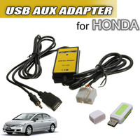Wholesale Honda Civic Aux Adapter - Brand New Car USB AUX Mp3 Adapter CD Changer For HONDA Accord for Civic CR-V Element for Odyssey order<$18no tracking