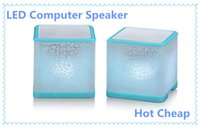Wholesale Cheap Lead Line - Hot Sale Good cube Computer Speakers LED Colorful Speaker Best Home Subwoofer Cheap Price Laptop Music Player